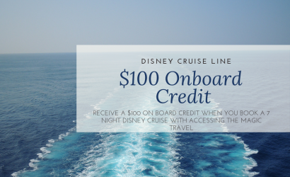 $100 disney cruise line credit, free onboard credit for DCL